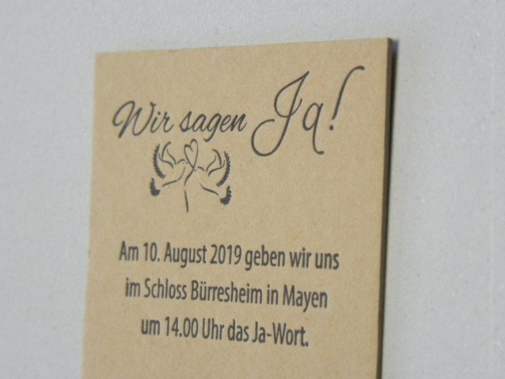 Fahrkarte als Hochzeitseinladung