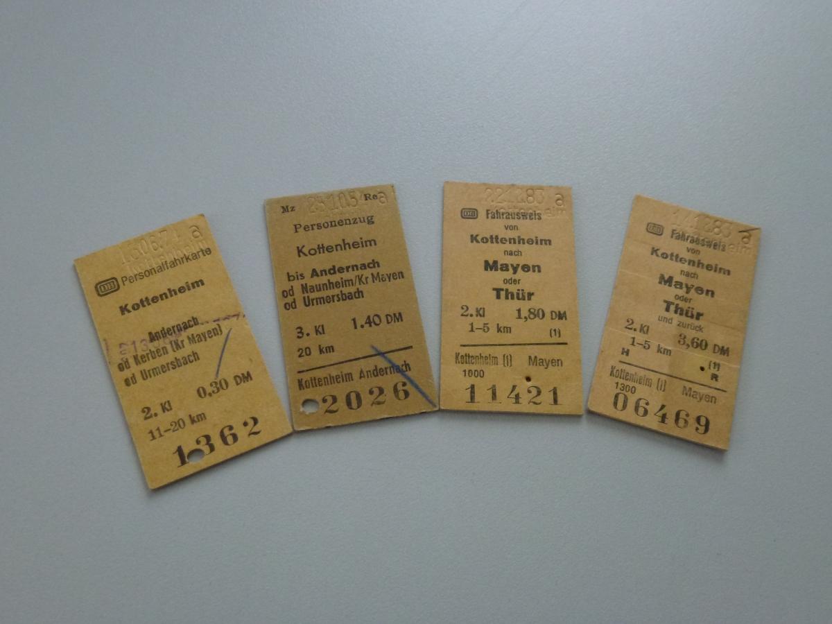 Edmondsonsche Fahrkarten - Bundesbahn