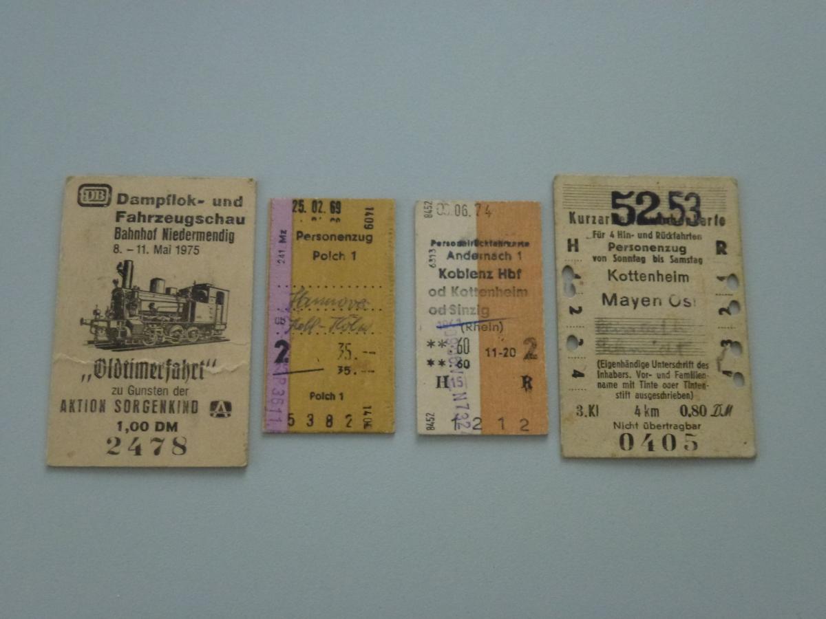 Edmondsonsche Fahrkarten - Sondermaße