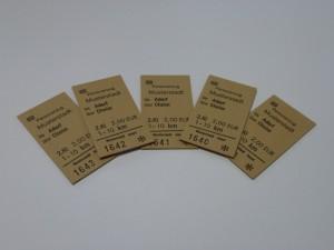Edmondsonsche Fahrkarten (Billetts)